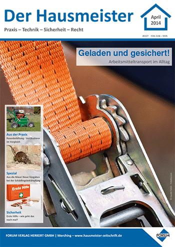 Ausgabe April 2014 <br> Geladen und gesichert!