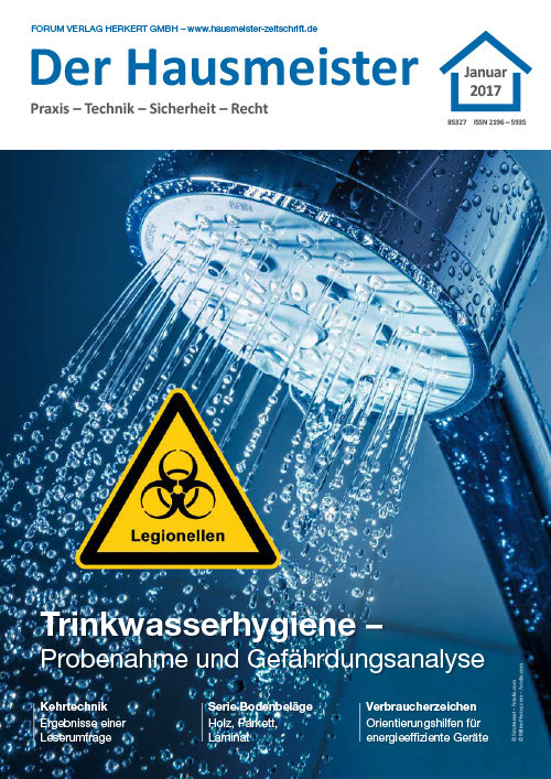 Ausgabe Januar 2017 <br> Trinkwasserhygiene