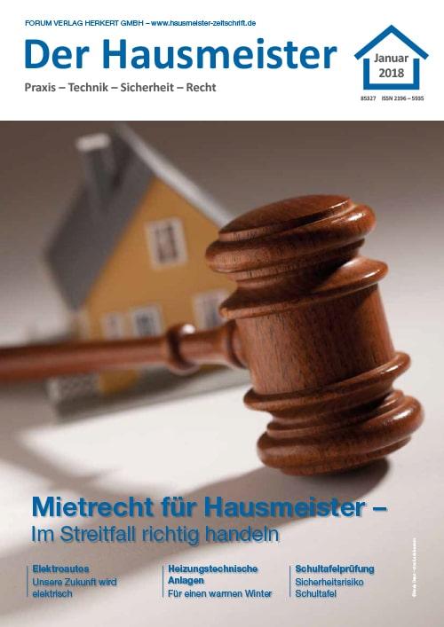 Ausgabe Januar 2018 <br> Mietrecht für Hausmeister