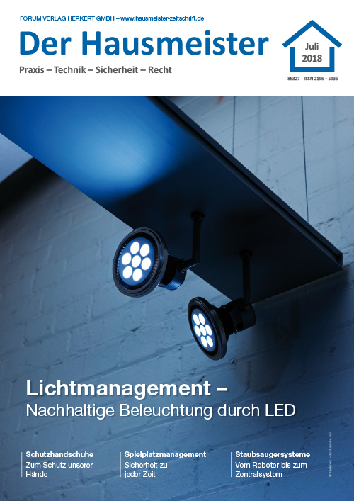 Ausgabe Juli 2018<br>Lichtmanagement