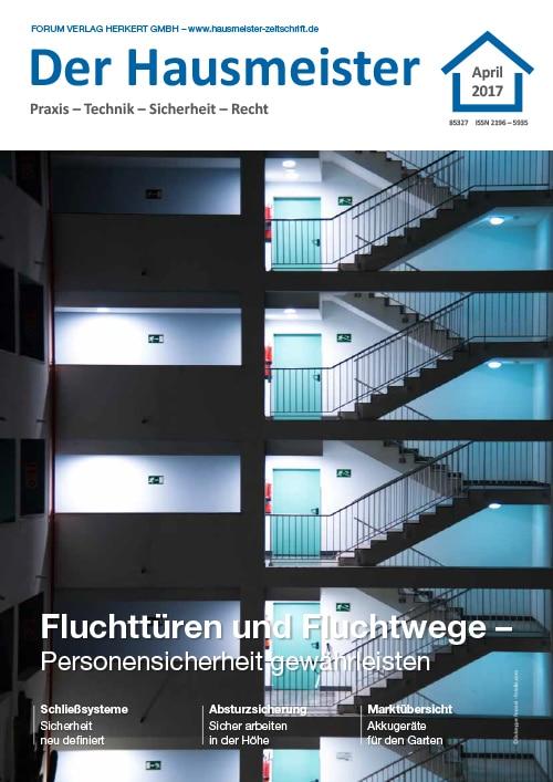 Ausgabe April 2017 <br> Fluchttüren und Fluchtwege