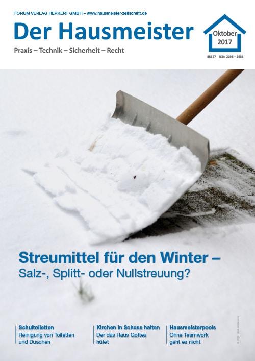 Ausgabe Oktober 2017 <br> Streumittel für den Winter