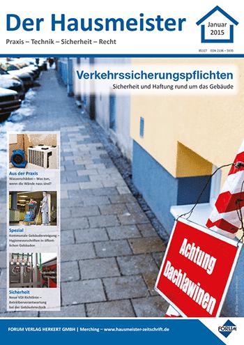 Ausgabe Januar 2015 <br> Verkehrssicherungspflichten
