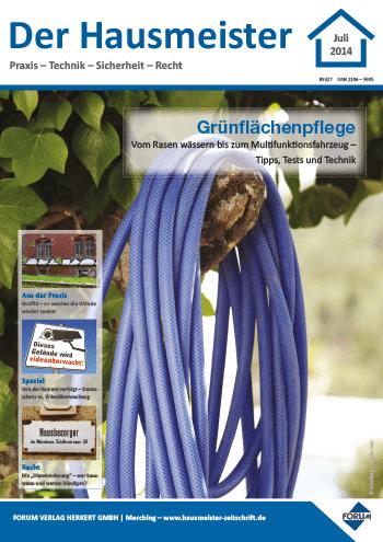 Ausgabe Juli 2014 <br> Grünflächenpflege