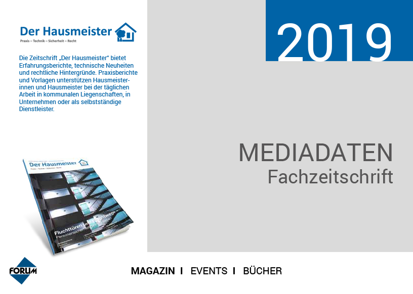 Mediadaten-Hausmeister 2019 Cover
