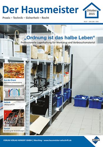 """Ausgabe Oktober 2015 <br> """"Ordnung ist das halbe Leben"""""""