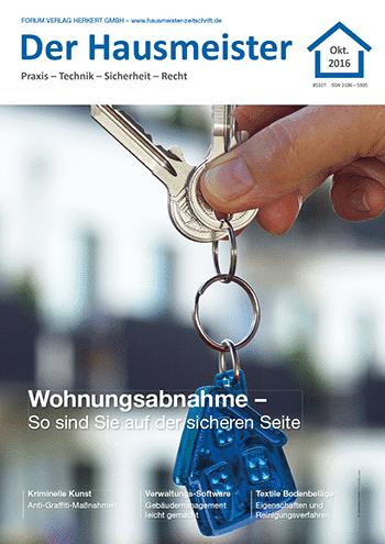 Ausgabe Oktober 2016 <br> Wohnungsabnahme