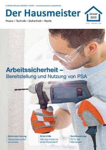 Ausgabe Januar 2019<br>Arbeitssicherheit