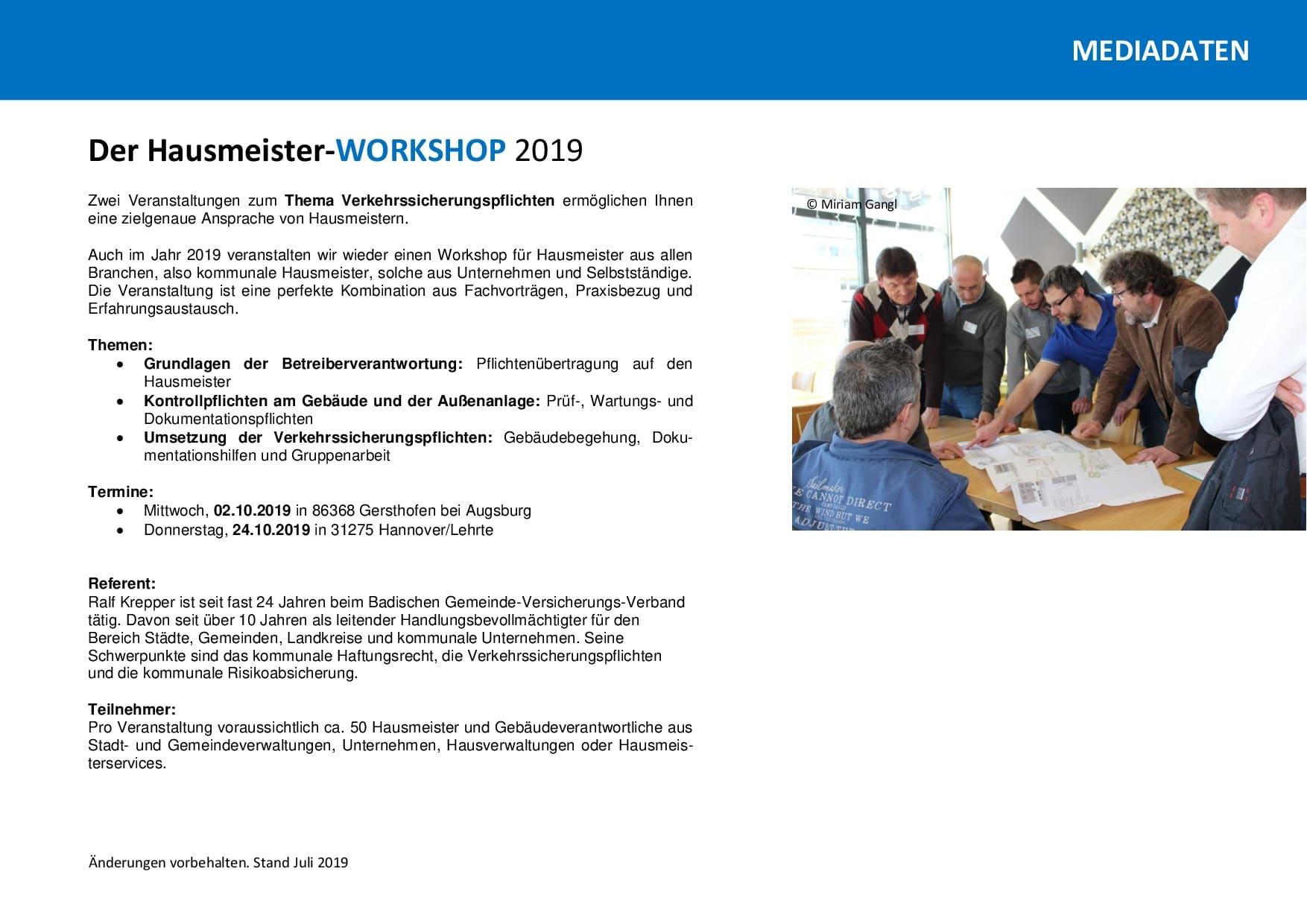 Mediadaten Workshop 2019