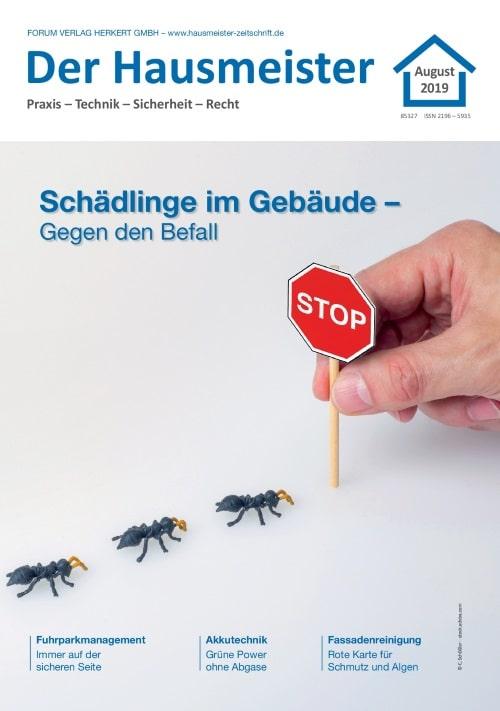 Ausgabe August 2019<br>Schädlinge im Gebäude