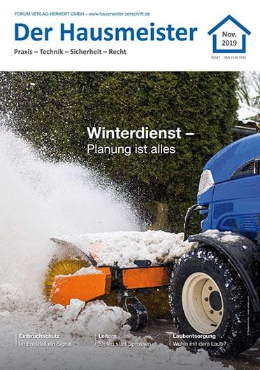 Ausgabe November 2019<br>Winterdienst – Planung ist alles
