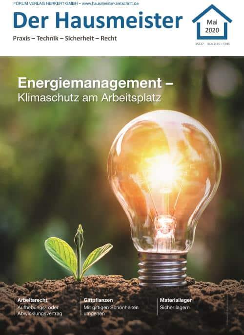 Ausgabe Mai 2020<br>Energiemanagement – Klimaschutz am Arbeitsplatz